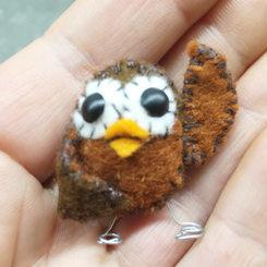 MINI HANDMADE FELT OWL