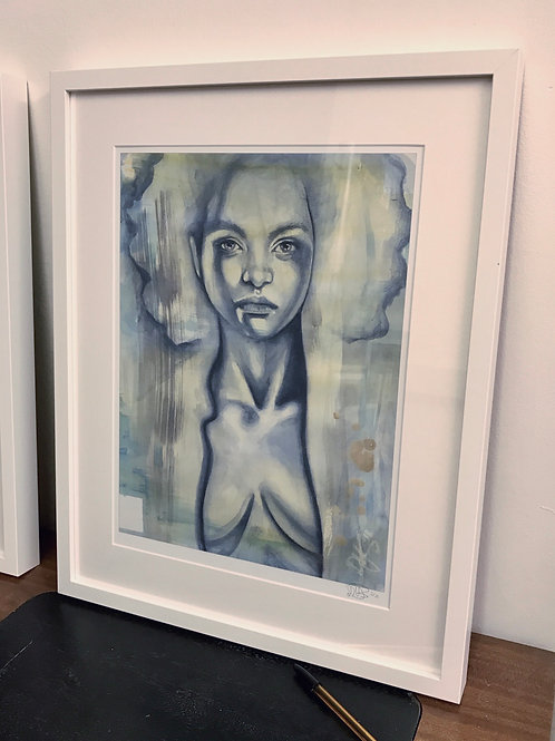 LIMITED EDITION FRAMED PRINT: Discogirl