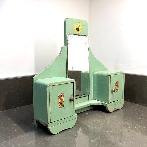 VINTAGE OOAK FRENCH ART DECO DOLLS DRESSING TABLE