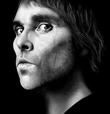 PHOTOSHOP ORTRAIT OF IAN BROWN OF THE STONE ROSES