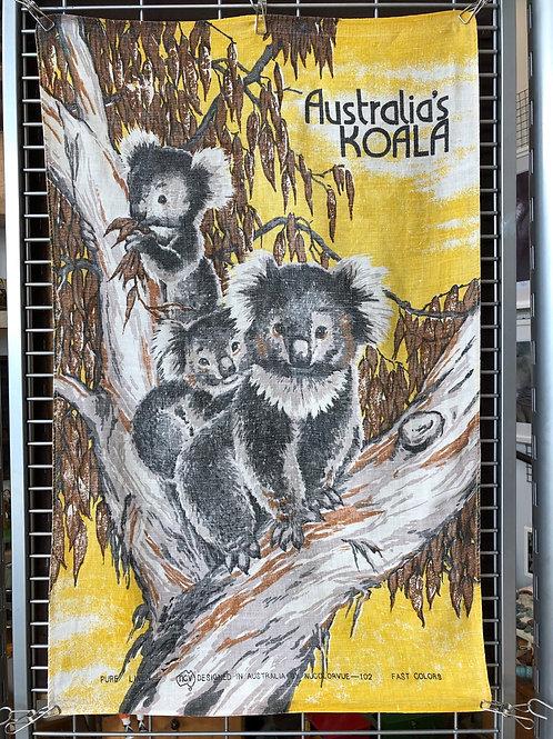 VINTAGE AUSTRALIAN KOALA TEA TOWEL
