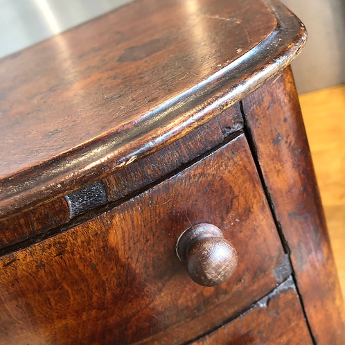ANTIQUE MINIATURE MAHOGANY VENEER DRAWERS