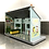 Thumbnail: SET OF 3 VINTAGE DOLLHOUSE BUILDINGS