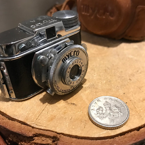 VINTAGE MYCRO 111a JAPANESE SUBMINIATURE SPY CAMERA FROM OCCUPIED JAPAN.
