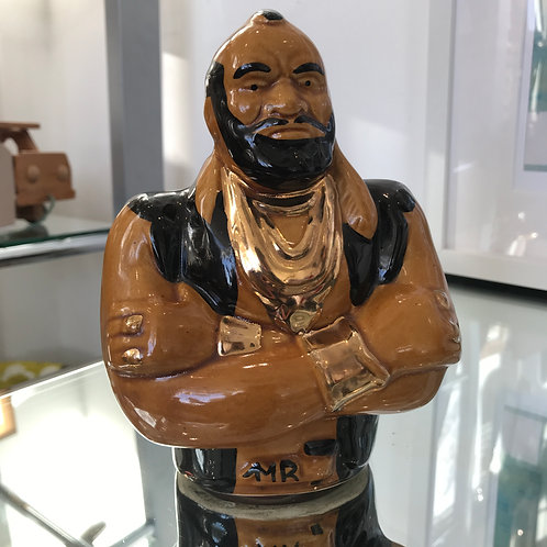 VINTAGE ORIGINAL 1970s CERAMIC MR T MONEY BANK