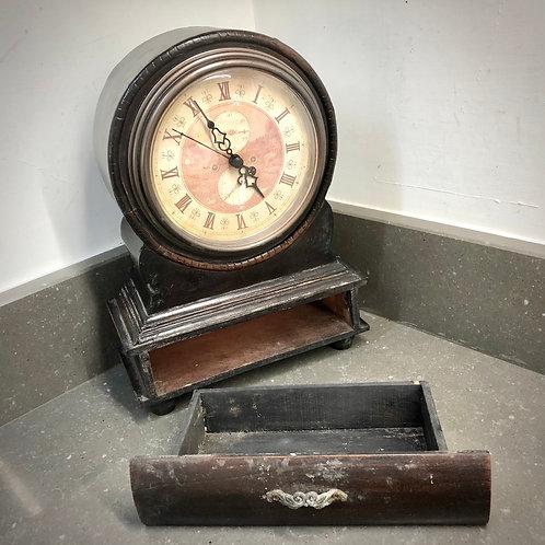 VINTAGE MANTLE CLOCK WITH SECRET DRAWER