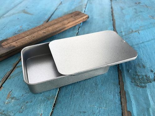 RECTANGLE GIFT TIN WITH SLIDING LID