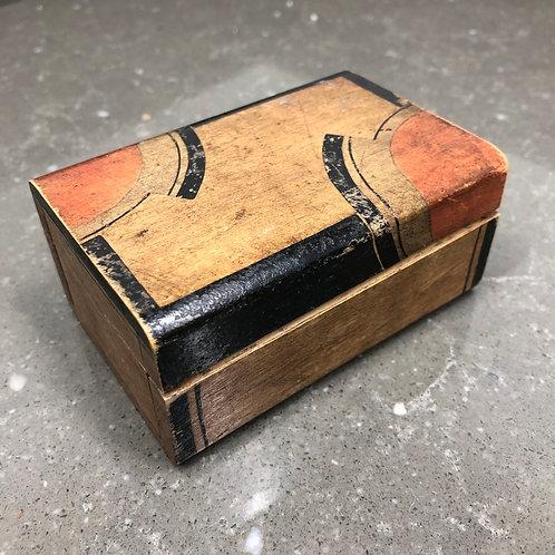 VINTAGE WOODEN MINIATURE ART DECO BOX