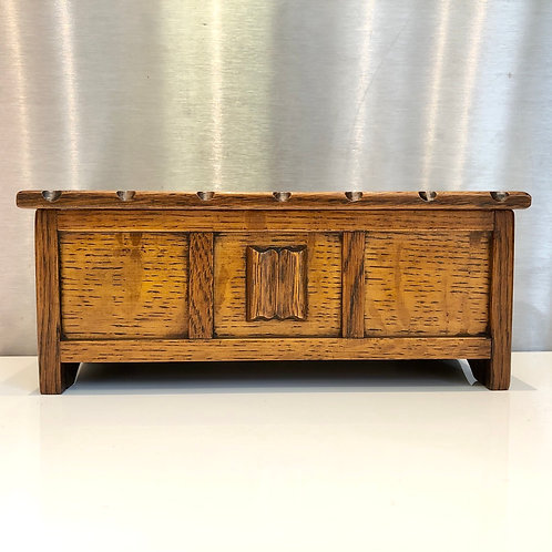 VINTAGE MINIATURE WOODEN JEWELLERY CHEST. Tallent of Old Bond Street