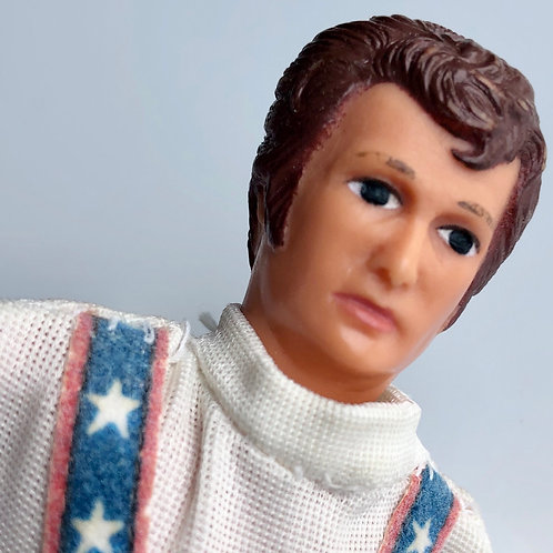 """VINTAGE 1970s EVEL KNIEVEL 7"""" ACTION FIGURE"""