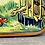Thumbnail: VINTAGE EDWARD SHARP TIN.  Girl at zoo