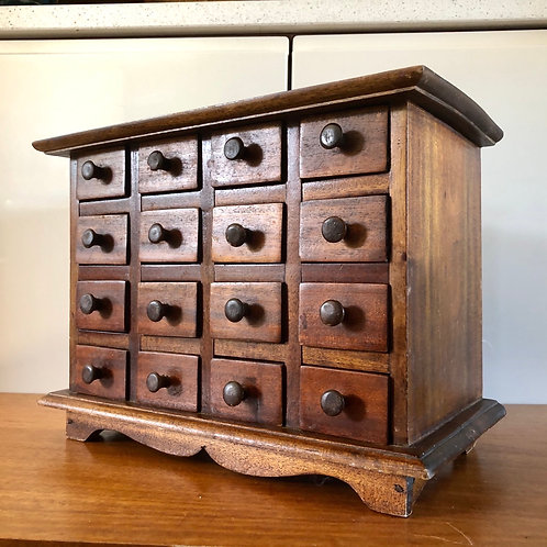 16 DRAWER MINIATURE SPICE CABINET