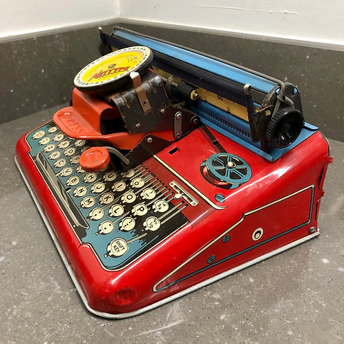 VINTAGE 1950s METTOY MYTYPE JUNIOR TOY TYPEWRITER IN ORIGINAL BOX