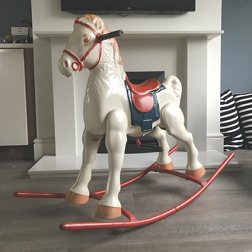 VINTAGE MOBO METAL ROCKING HORSE