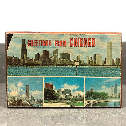 VINTAGE SOUVENIR BOX FROM CHICAGO