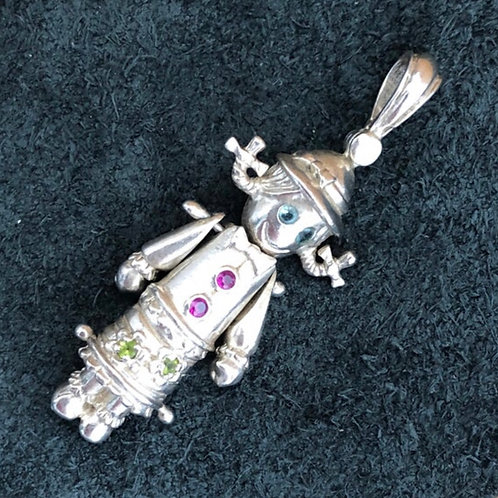 VINTAGE STERLING ARTICULATED SILVER DOLL CHARM