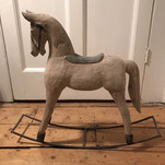 VINTAGE SCANDI WOODEN ROCKING HORSE SHOP DISPLAY PROP