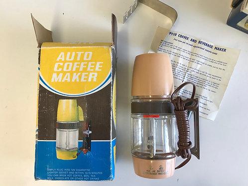 VINTAGE TRAVEL AUTO COFFEE MAKER. Unused.
