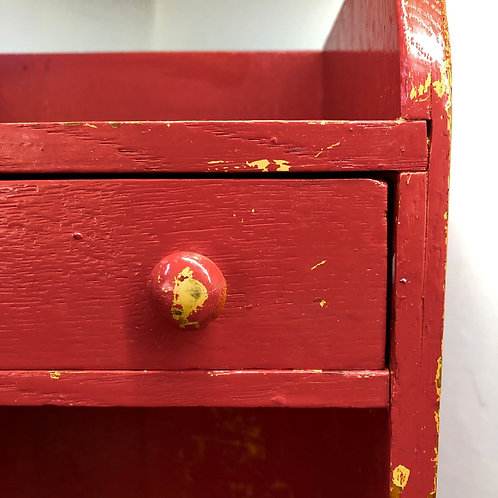 VINTAGE TOY/CHILD'S CABINET WITH DRAWER