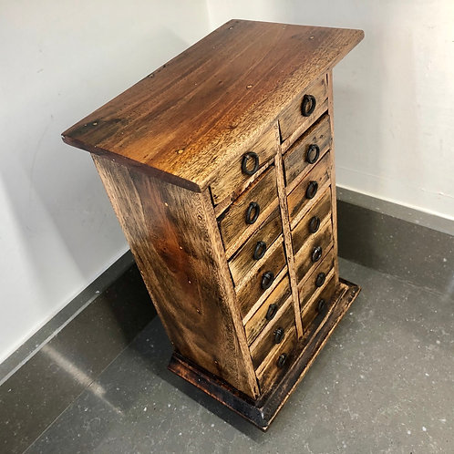 VINTAGE 14 DRAWER WATCH MAKERS CABINET