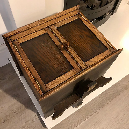 VINTAGE OAK ROTATING PIPE CABINET HUMIDOR