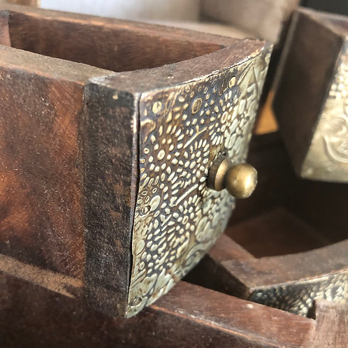 MINIATURE CURVED WOODEN DRAWERS