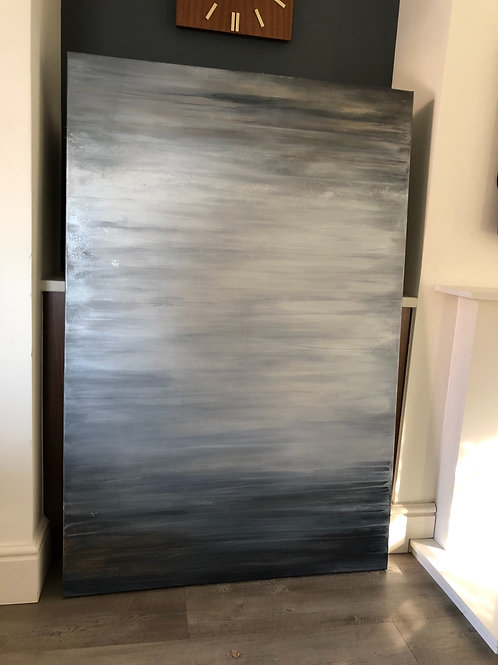 ORIGINAL LARGE ABSTRACT PAINTING: Steel