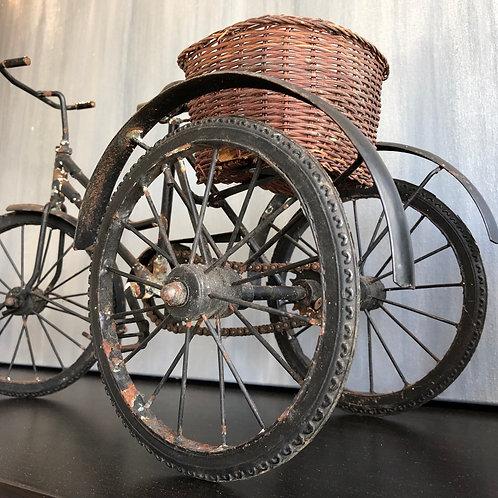 Vintage handmade miniature working tricycle.