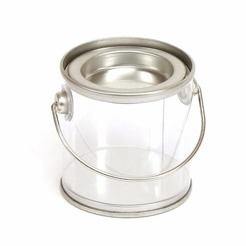 SMALL CLEAR PAINT CAN GIFT TIN