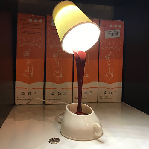 COFFEE CUP LAMP. Battery or USB powered