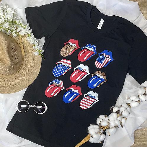 Patriotic Rockstar Tee