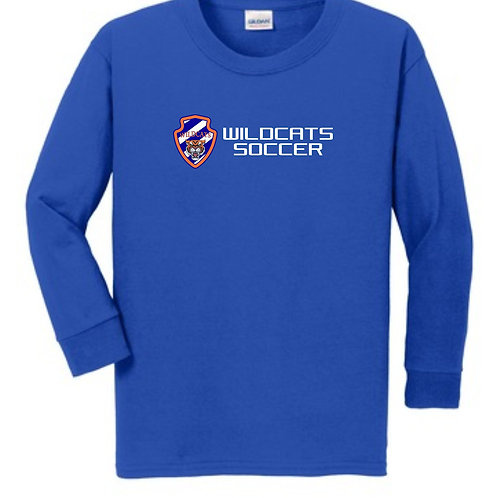Wildcats Soccer Youth Long Sleeve Tee