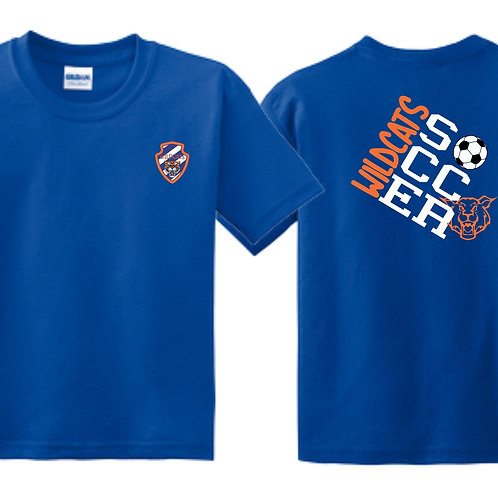Wildcats Soccer Royal Blue Youth Tee