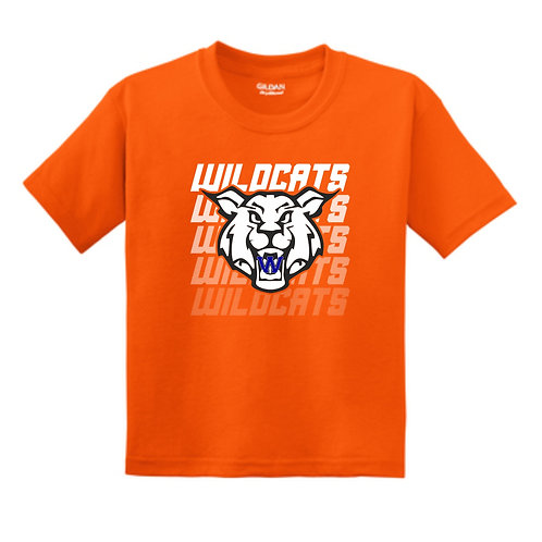 Wildcats Soccer Fade Youth Tee