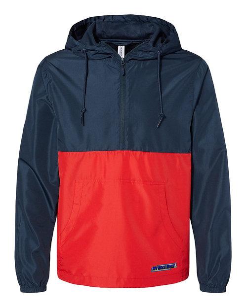 Lightweight Quarter-Zip Windbreaker Pullover Jacket