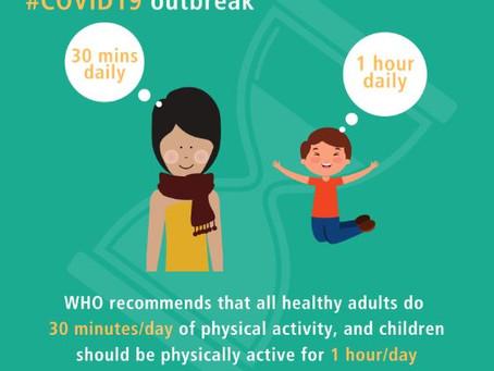 Физическая активность в условиях домашней изоляции.