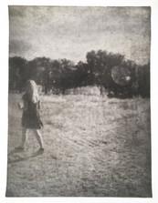 Untitled, 2018 Techniek: foto-ets met potlood en houtskool Formaat: 39 x 152 cm Oplage: 1 van 5 (2AP)