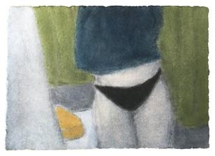 Untitled, 2018 Techniek: foto-ets met pastel Formaat: 13 x 9 cm Oplage: 1 van 5 (2AP)