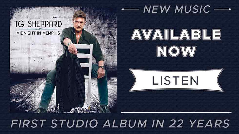 TG Sheppard's firts studio recording in over 22 years, Midnight In memphis is available now.