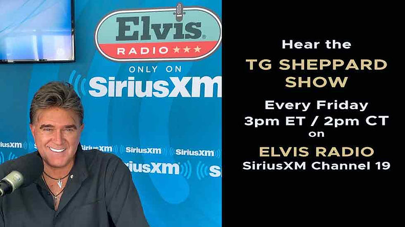 Hear the TG Sheppard Show on SiruisXM Radio every Friday 3pm ET / 2pm CST
