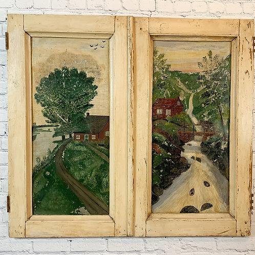 Portes d'armoire art populaire / Folk art doors