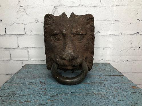 Tête de lion fonte // Cast iron Lion's head