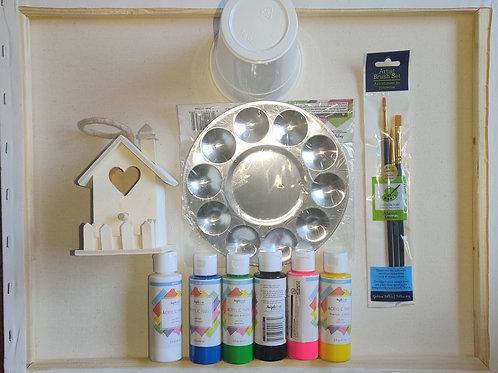 Birdhouse Paint Kit