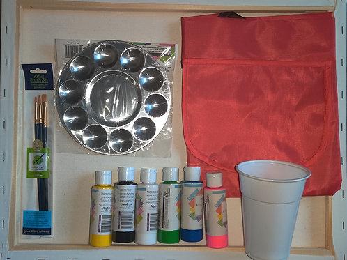 Paint Kit w/Pre-Sketched Canvas