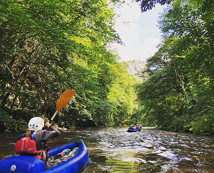 Kayaking Peak District Derbyshire
