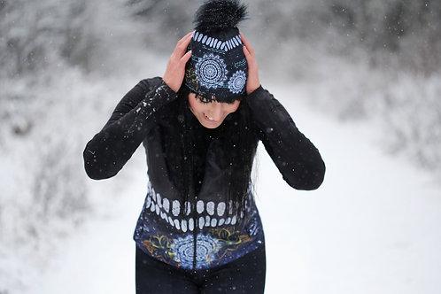 Zimní ČEPICE černá mandaly