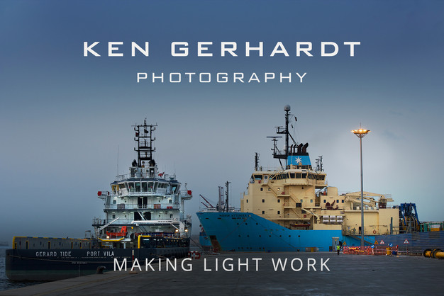 Photo of ship at quay by Ken Gerhardt and link to more of his work