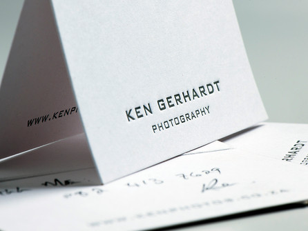 Ken Gerhardt Photography logo and stationery