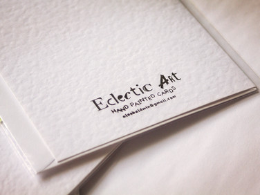 Hand painted cards from Eclectic Art
