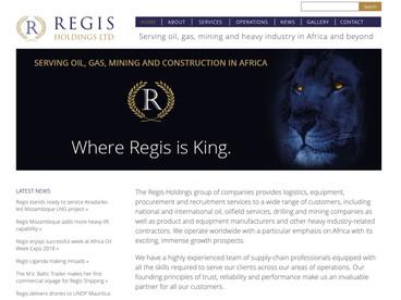 Regis Holdings website image